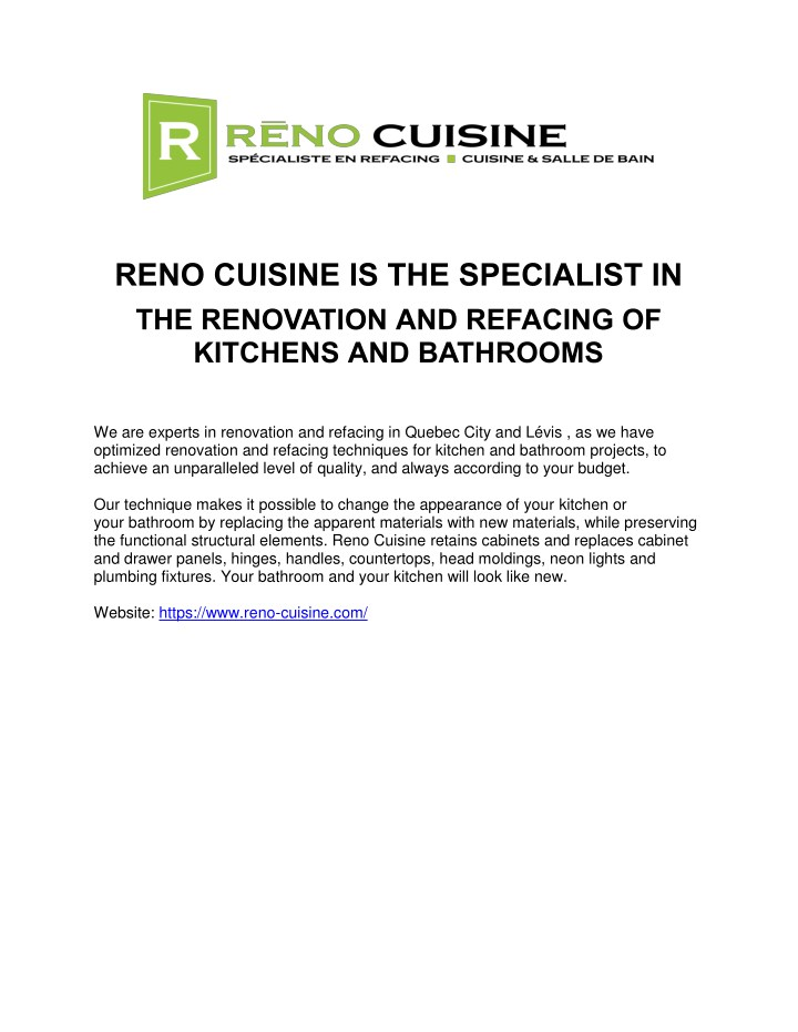 reno cuisine is the specialist in the renovation n.