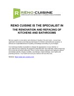 reno cuisine is the specialist in the renovation
