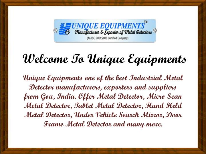 welcome to unique equipments n.