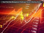 test data management challenges faced in banking