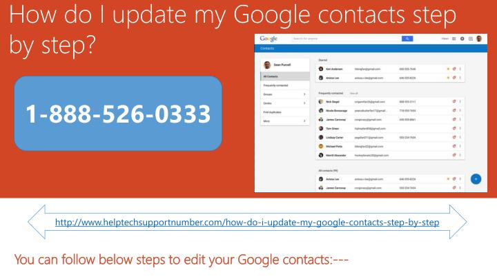 how do i update my google contacts step by step n.