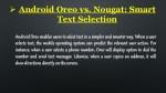 android oreo vs nougat smart text selection