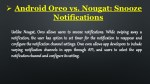 android oreo vs nougat snooze notifications