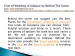 cost of wedding in udaipur by behind the scene 5