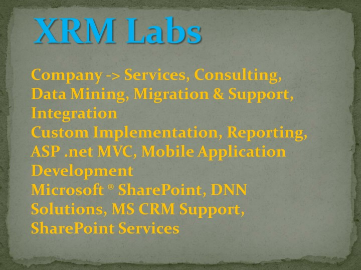 company services consulting data mining migration n.