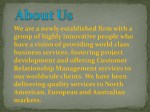 we are a newly established firm with a group