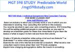 mgt 598 study predictable world mgt598study com 1