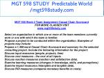 mgt 598 study predictable world mgt598study com 2