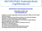mgt 598 study predictable world mgt598study com 4