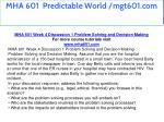 mha 601 predictable world mgt601 com 12