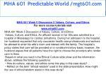 mha 601 predictable world mgt601 com 15