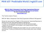 mha 601 predictable world mgt601 com 5