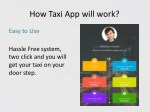 how taxi app will work