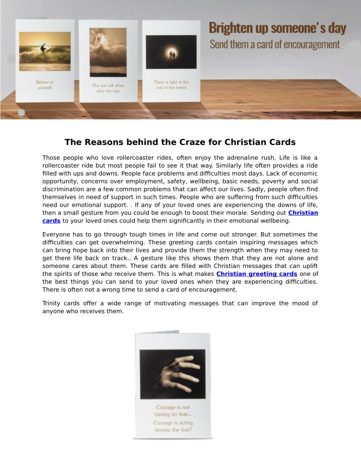the reasons behind the craze for christian cards n.
