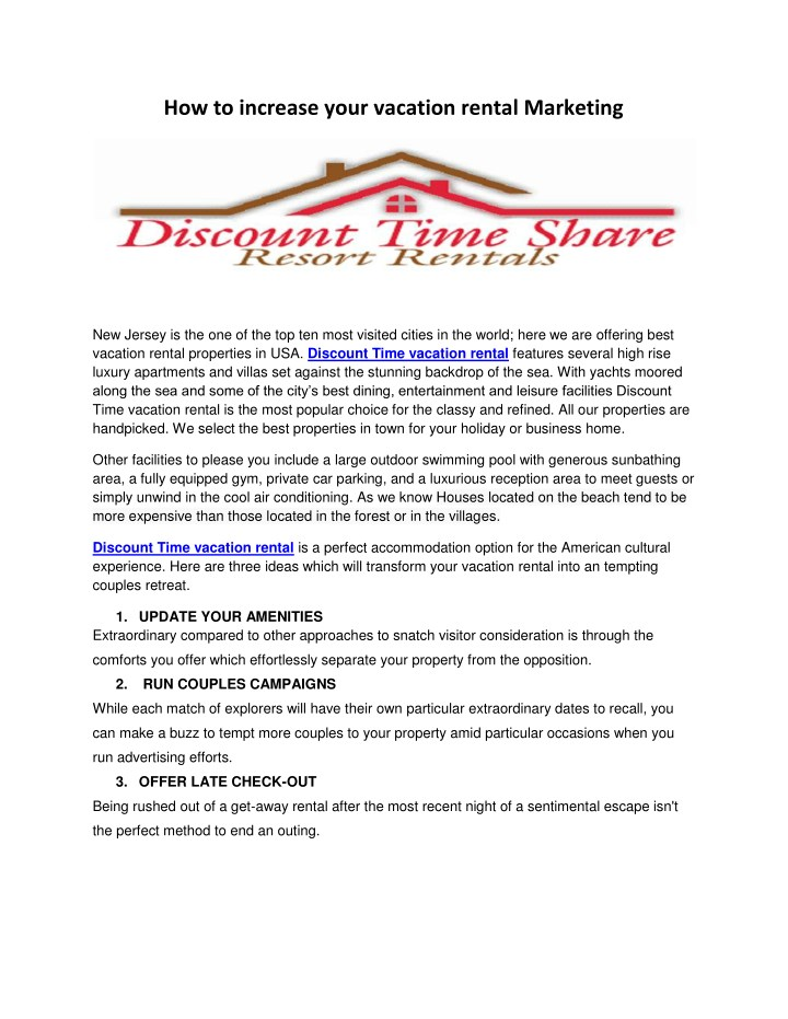how to increase your vacation rental marketing n.