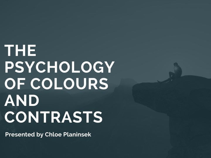 the psychology of colours and contrasts n.