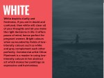 white white depicts clarity and freshness