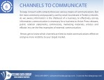 channels to communicate
