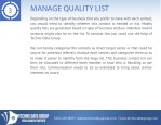 manage quality list