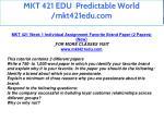 mkt 421 edu predictable world mkt421edu com 13