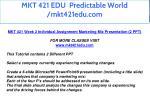 mkt 421 edu predictable world mkt421edu com 17