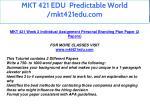 mkt 421 edu predictable world mkt421edu com 19