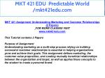 mkt 421 edu predictable world mkt421edu com 2