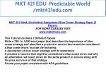 mkt 421 edu predictable world mkt421edu com 31