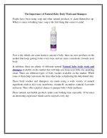 the importance of natural baby body wash