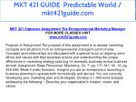 mkt 421 guide predictable world mkt421guide com 8