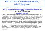 mkt 571 help predictable world mkt571help com 17