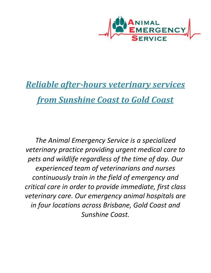 reliable after hours veterinary services n.