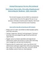 animal emergency service recruitment