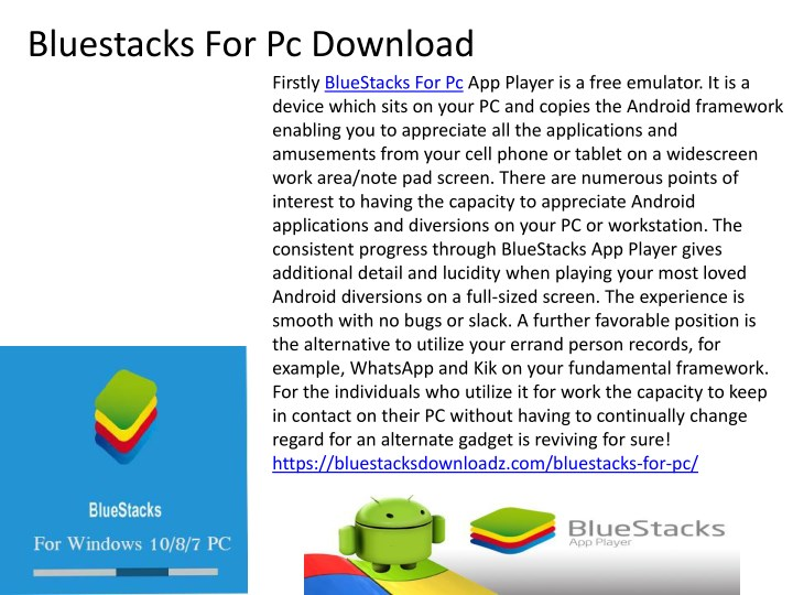bluestacks for pc download n.