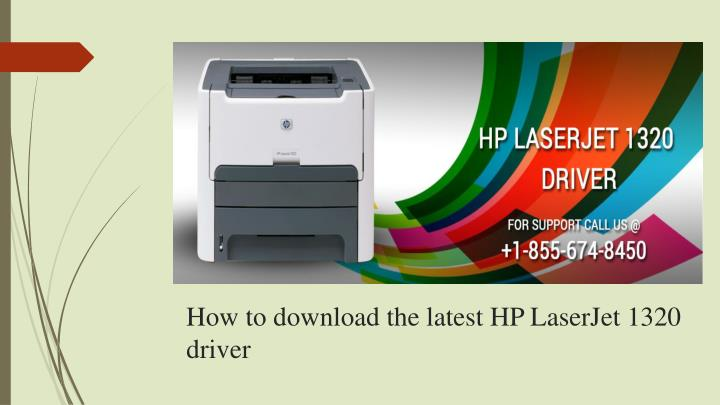 how to download the latest hp laserjet 1320 driver n.