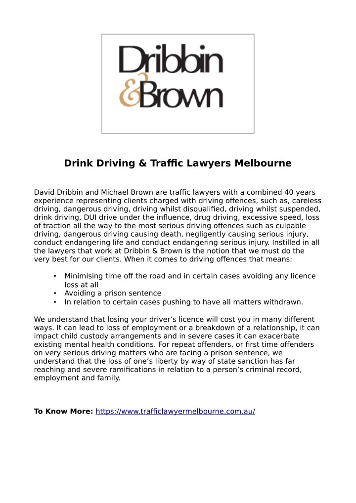 drink driving traffic lawyers melbourne n.