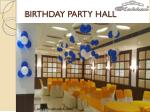 birthday party hall