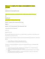 bsn 4017 complete week assignments pack latest