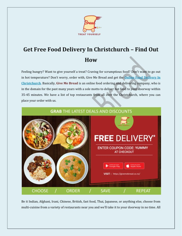 get free food delivery in christchurch find out n.