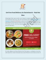 get free food delivery in christchurch find out
