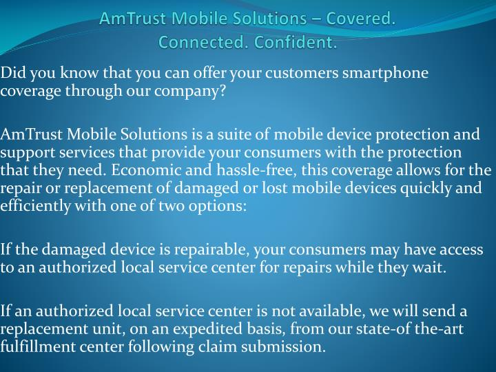 amtrust mobile solutions covered connected confident n.