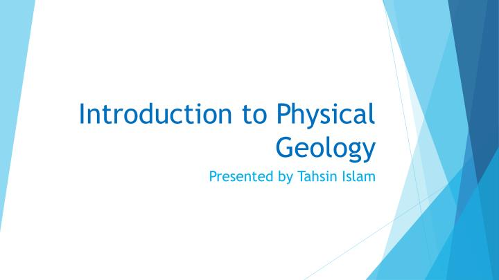 introduction to physical geology n.