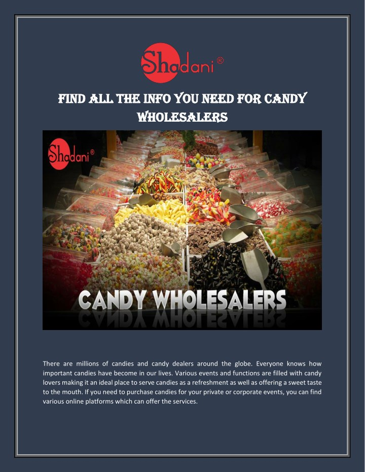 find find all the info you need for candy n.