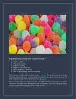 steps to purchase candies from candy wholesalers