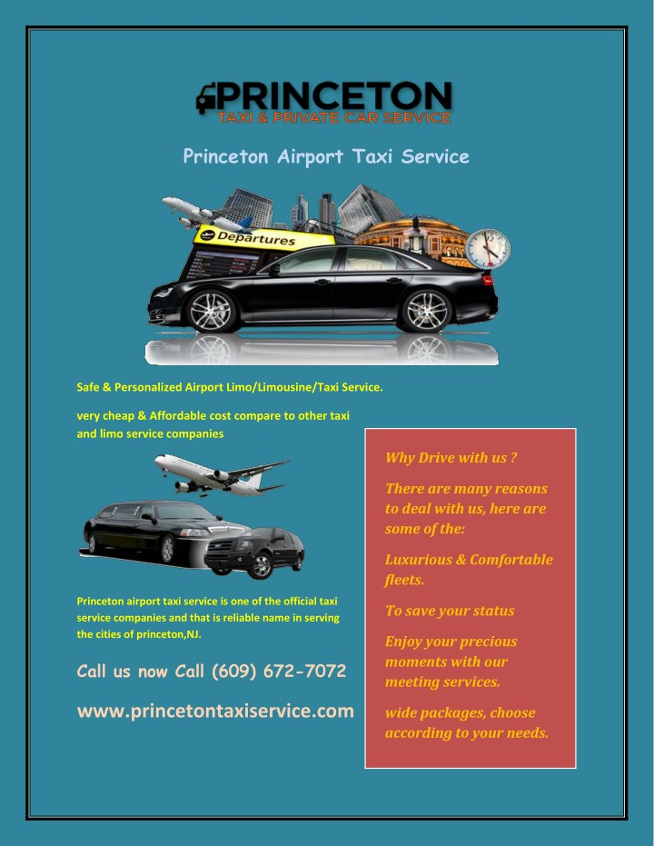 princeton airport taxi service n.