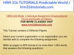 hrm 326 tutorials predictable world 10