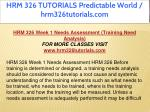 hrm 326 tutorials predictable world 11