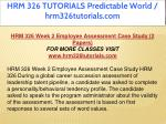 hrm 326 tutorials predictable world 15