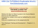 hrm 326 tutorials predictable world 16