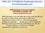 hrm 326 tutorials predictable world 29